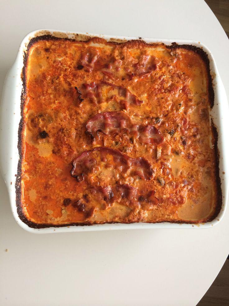 Koteletter i fad m. lchf-pasta