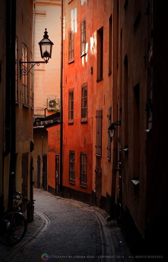 Light at the end of the alley.... Stockholm, Sweden