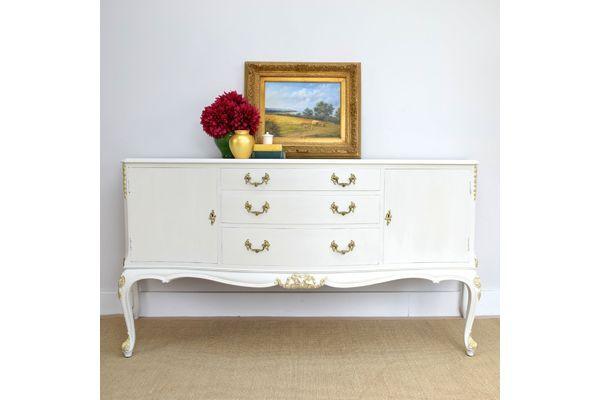 Vintage Sideboard, Quality Handmade Cupboard, Cream French Style Dresser | vinterior.co