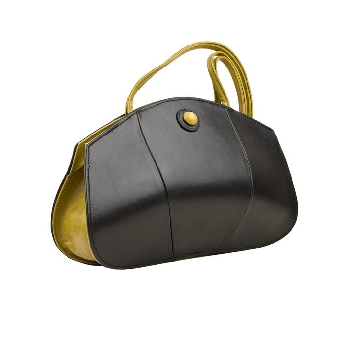 Jane Hopkinson - Dora Shoulder Bag, black lime trim http://www.janehopkinsonbags.co.uk/