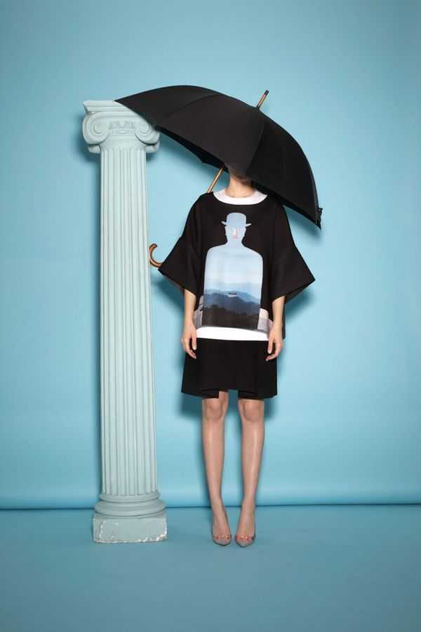 Opening Ceremony x Rene Magritte Collection - love these baggy oversized sleeves on the T-Shirt