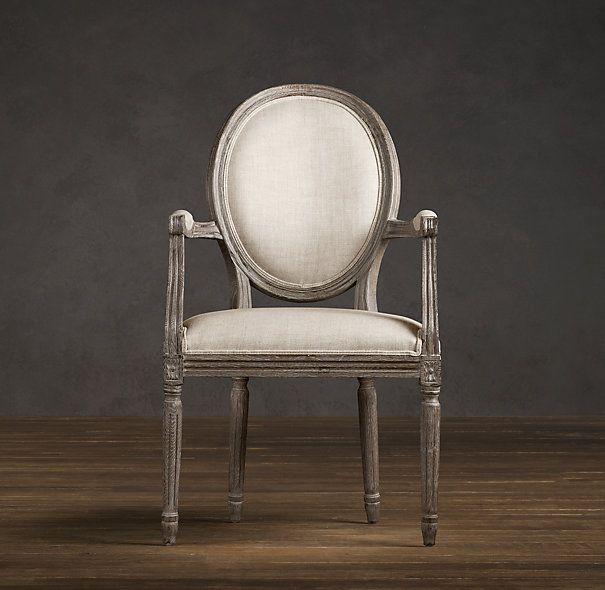 Restoration Hardware Vintage French Round Dining Chair