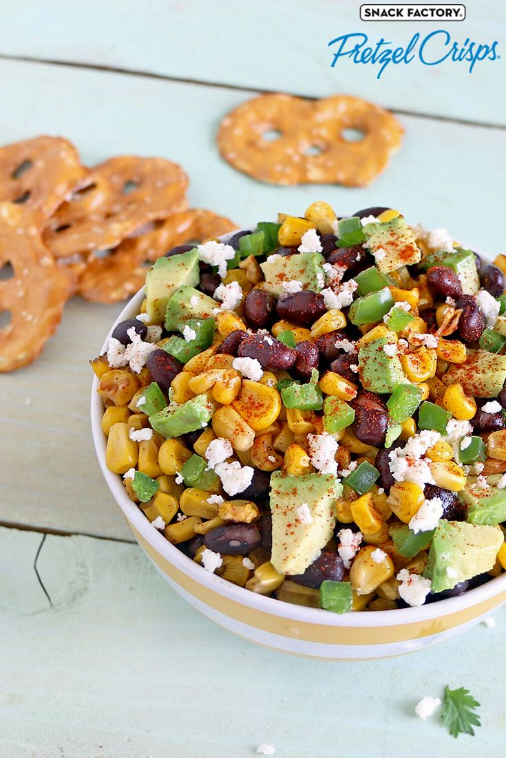 Pretzel Crisps® Corn Salsa