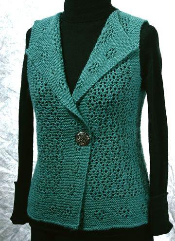 Rosebud Vest: A Lace Knitting Pattern