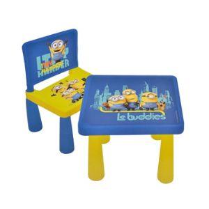 Minions-Minyonlar Çocuk Masa ve Sandalye Seti