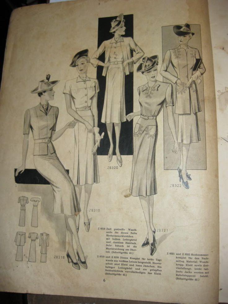 German fashion magazines (1939 und 1940)- Mode im Bild 1939