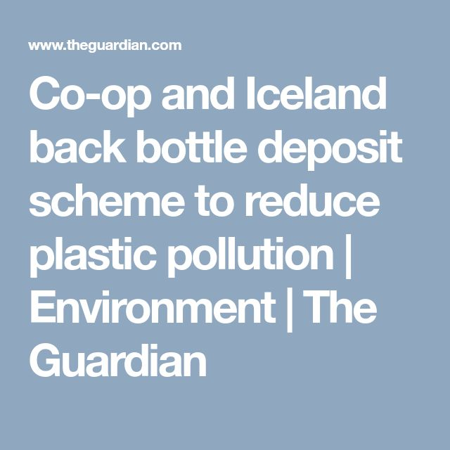 Co-op and Iceland back bottle deposit scheme to reduce plastic pollution   Environment   The Guardian