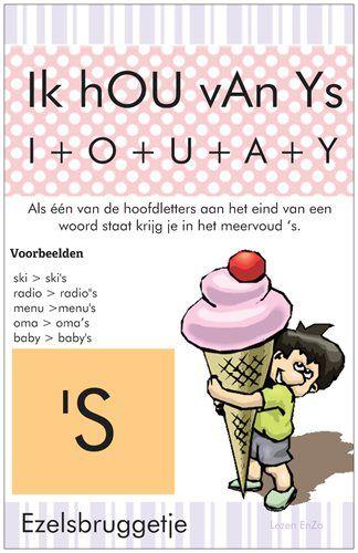 #Spelling #Ezelsbruggetje voor 'S aan het eind van een woord.