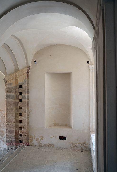 le scale del XVIII sec. al castello