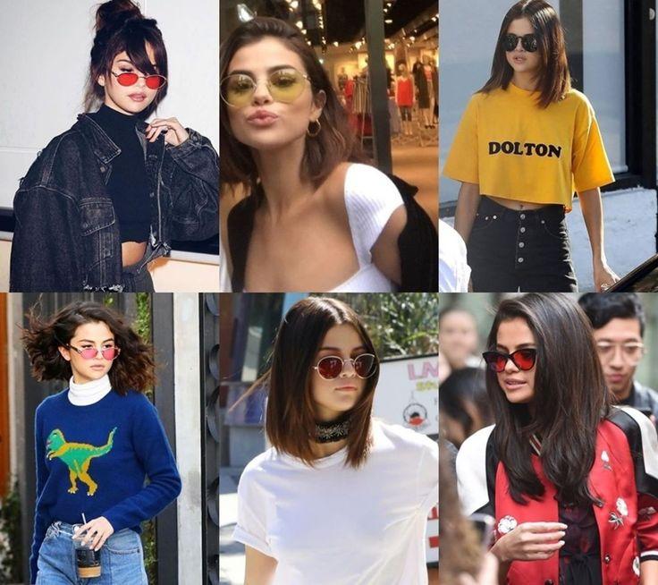 Aquela coleção incrível de óculos de sol... 😎que a gente adorar!💗Selena Gomez sempre desfila com modelos diferentes, que são um mais lindo do que o outro! Redondo, transparente, oversized, cateye, coloridos... Qual desses é o seu favorito?!😘