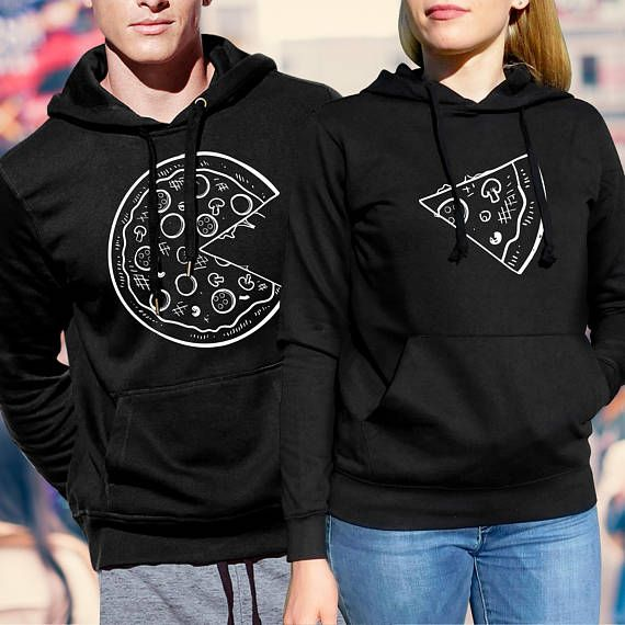 With this pizza hoodies you can show your other half, how much do you love him or her. Matching couple hoodies with unique design is an amazing present for couples. IMPORTANT: PLEASE CHECK THE SIZE CHART BEFORE ORDERING! High quality couple hoodies made of tight cotton and printed by