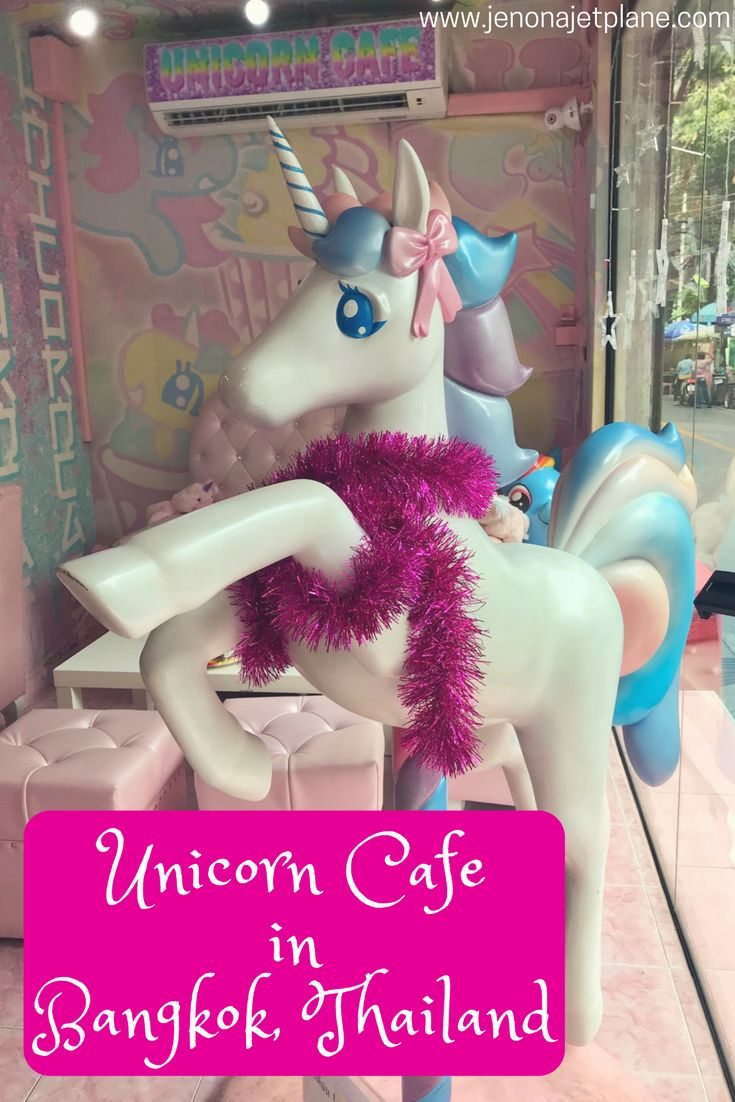 The Unicorn Cafe Bangkok is a place where dreams come true. Dress up in a unicorn onesie, eat rainbow-colored cake and surround yourself with stuffed animals, all in public and without judgment. Save to your travel inspiration board and don't miss this bucket list item in Thailand! #bangkok #unicorncafe #feminine #unicorns #rainbowdreams