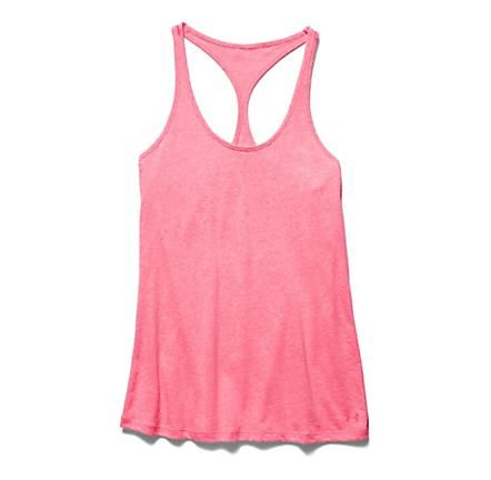 Womens Under Armour Charged Cotton Tri-Blend Ultimate Tank Technical Tops