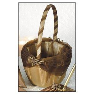 Flower Girl Basket (Bronze Elegance Collection)