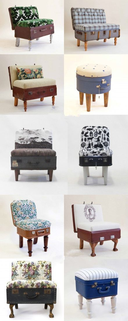 Gesammelte Koffer-Sessel