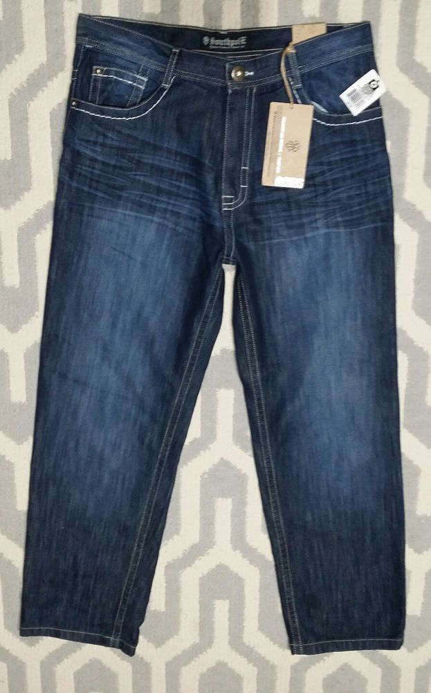 Mens South Pole Jeans 36 Straight Leg NWT 5180 Thick Stitching Flap POCKETS DARK | Clothing, Shoes & Accessories, Men's Clothing, Jeans | eBay!