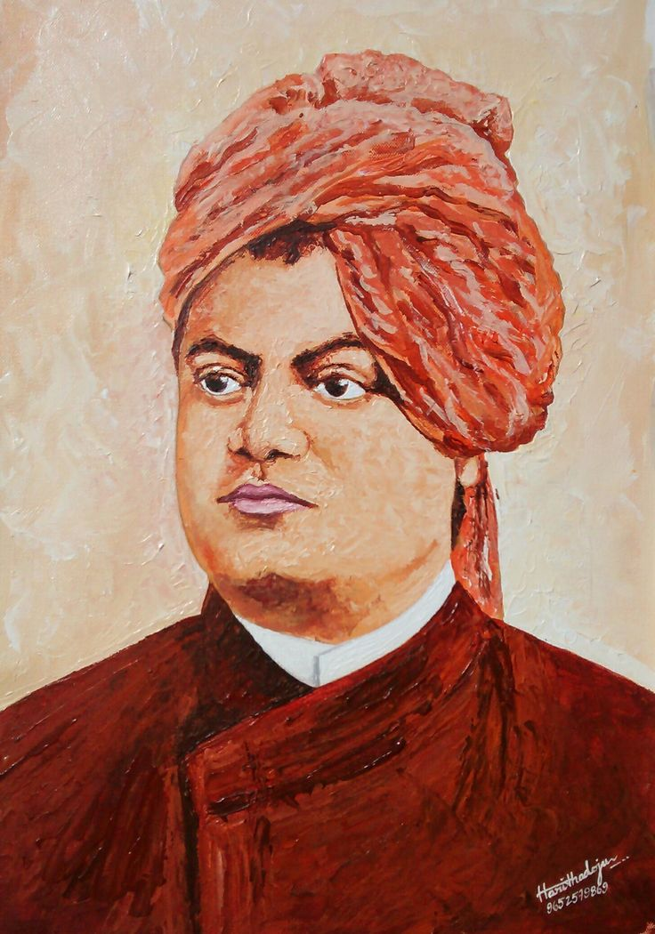 Recent work... 'Vivekananda Portrait' Painted with Knife... Medium: Acrylic on Canvas Size: 12 x 18 inches For more details contact us:9652579869