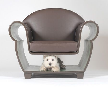 The Hollow Chair - for when pups and humans both need a rest!: Dogs Stuff, Animal Haus, Things Doggie, Chairs I, House, Small Spaces, Design, Beautiful Chairs, Doggie Decor