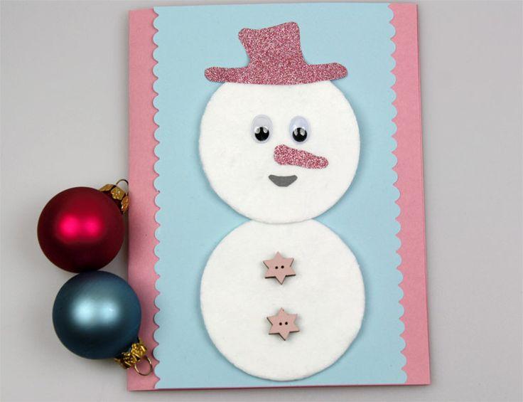 25 best ideas about weihnachtskarten basteln mit kindern - Niedliche weihnachtskarten ...