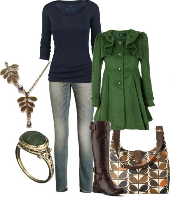 """navy & green"" by lagu ❤ liked on Polyvore"