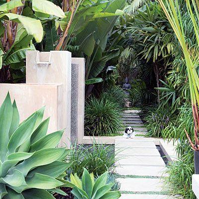 Garden art: Water Feature, Landscaping Ideas, Garden Ideas, Garden Design, Outdoor, Tropical Gardens, Modern Garden