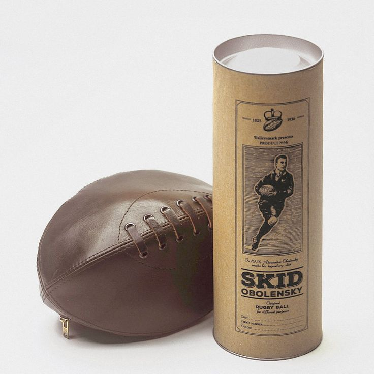 Упаковка тубус для кошелька в виде мяча для регби