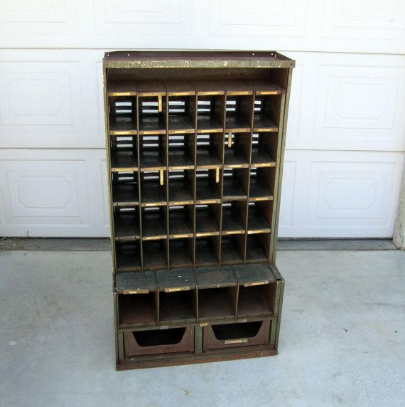 Delightful RESERVED / Antique Post Office Box / Vintage Multiple By MidMod