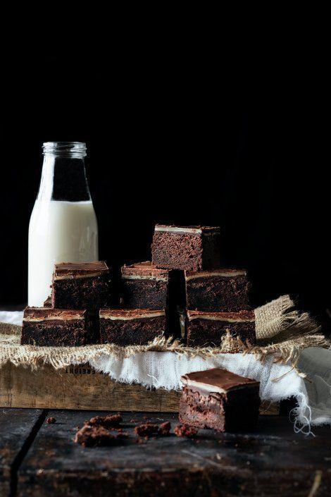 Marzipan – Schokoladen Ganache Brownies – Kuchenrezepte
