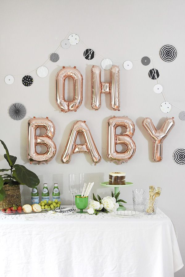 Modern Woodland themed Baby Shower