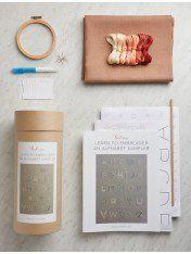 Learn to Embroider an Alphabet Sampler Kit