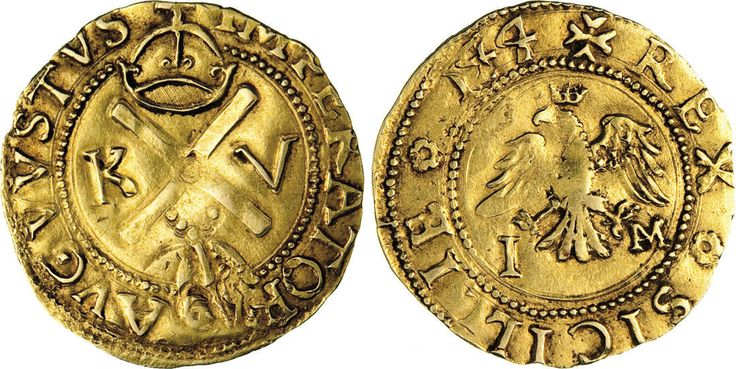 NumisBids: Numismatica Varesi s.a.s. Auction 65, Lot 422 : MESSINA - CARLO V (1516-1556) Scudo d'oro 1544 sigle I M. Sp. - ...