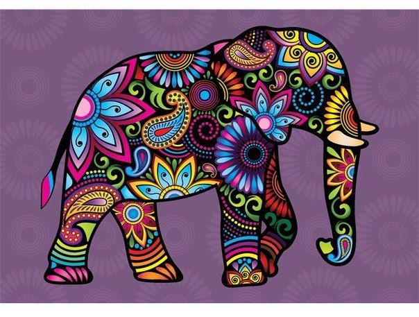 раскрасить слона - Поиск в Google