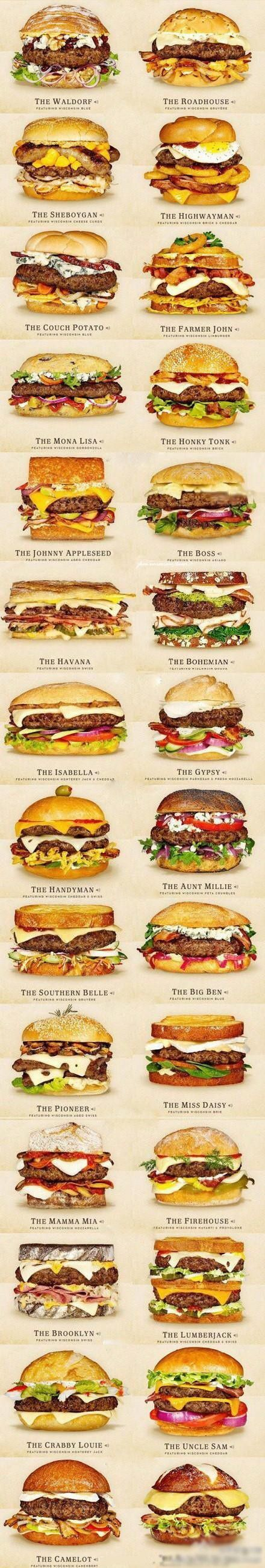 Cheeseburger Ideas. My mouth is watering.