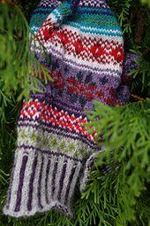Doja's gift fair isle mitten knitting pattern