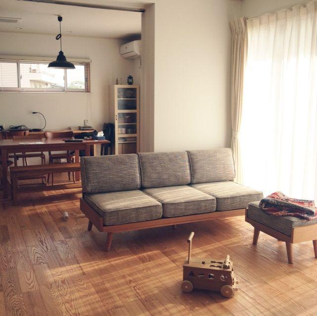 komakiさんの、リビング,ナチュラル,ソファ,unico,無垢,のお部屋写真
