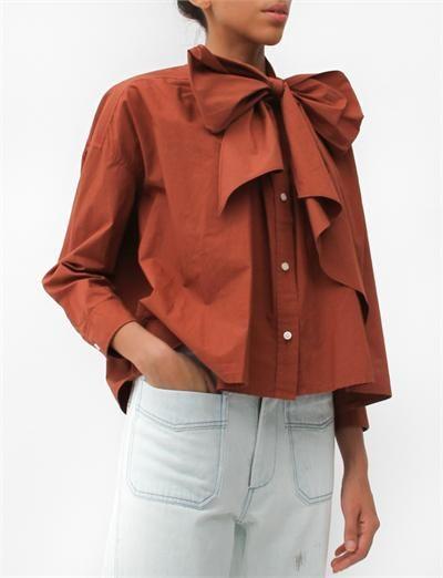 Caron Callahan Pablo Shirt- Rust