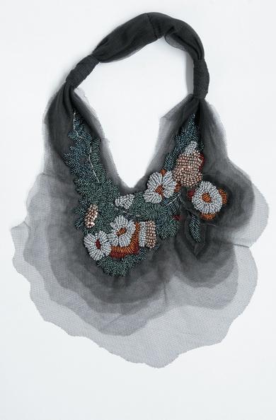 Layered Tulle Neckpiece: Akira Isogawa: Akira Isogawa, Automn Winter, Plastic Beads, Tulle Neckpiec, Inspiration, Beads Necklaces, Jewellery, Hiver 2010, Layered Tulle