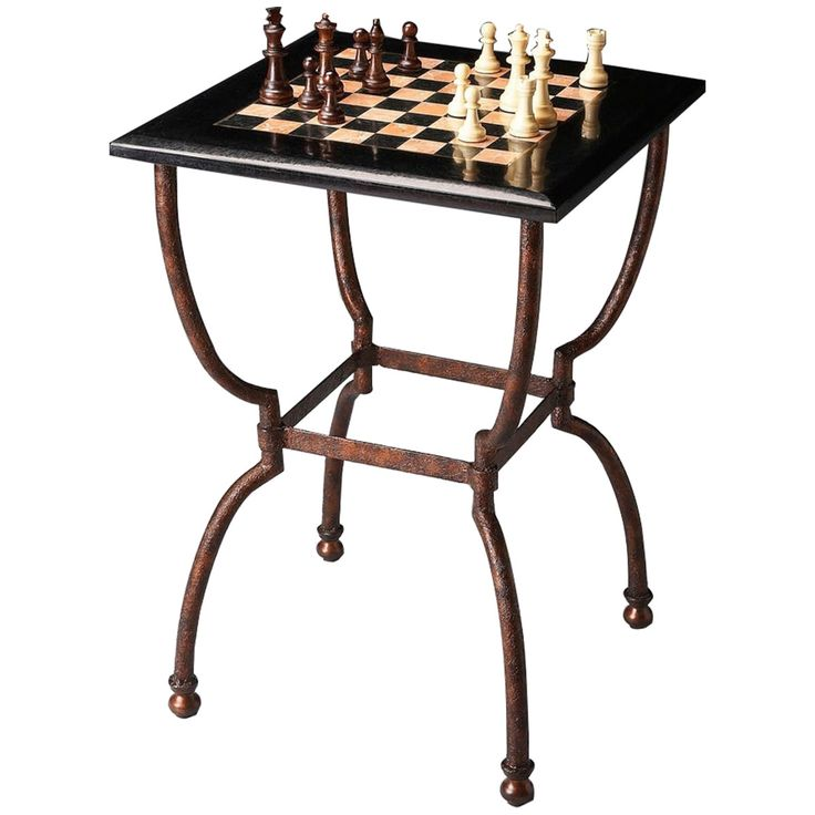 Butler Metalworks Fossil Stone Game Table