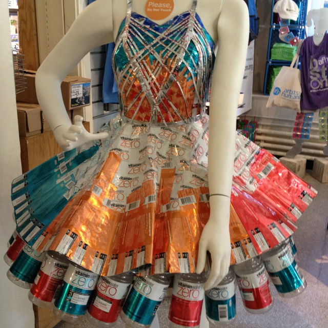 Dress made out of vitamin water bottles things i luv for What to make out of water bottles