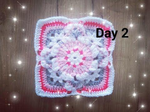 Dzień 2 - Kwadrat babuni na szydełku - crochet granny square day 2 - 30