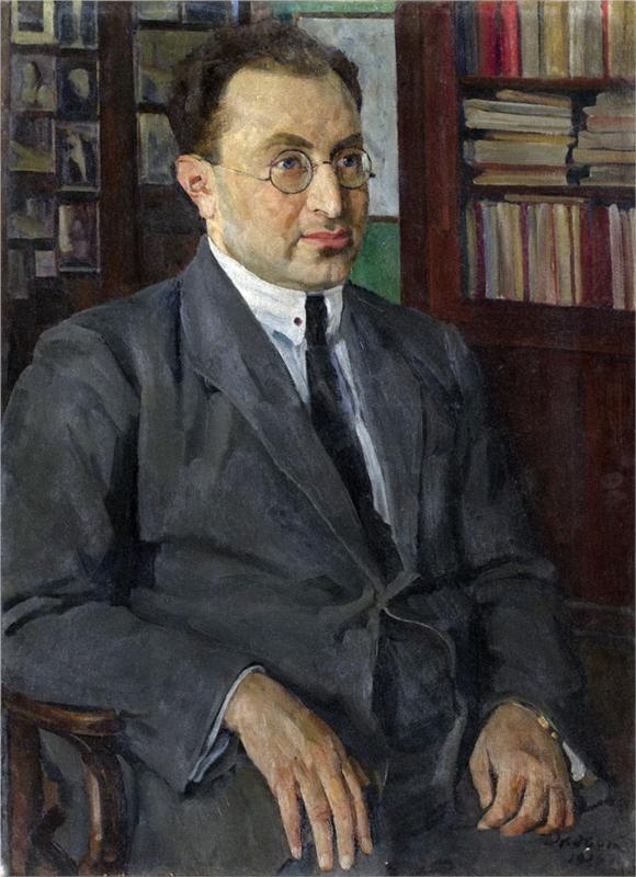 Portrait of the poet Grigory Shirman (1926) Konstantin Fyodorovich Yuon (Константи́н Фёдорович Юо́н. Unión Soviética. Rusia, 1875-1958)
