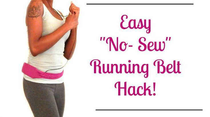 "Easy ""no-sew"" running belt hack!"