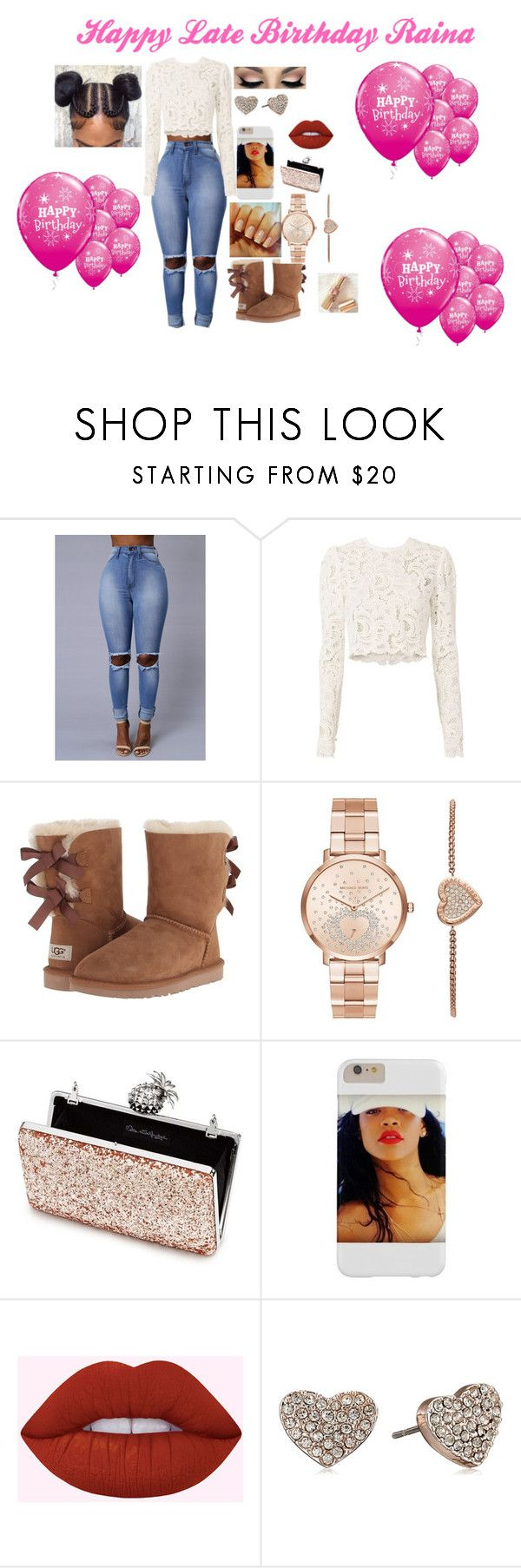 """""""for raina"""" by tanae-523 ❤ liked on Polyvore featuring A.L.C., UGG Australia, Michael Kors, Miss Selfridge, Lime Crime and T Tahari"""