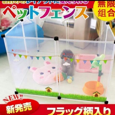 """Brand new! New modern design pet playpen with see-through material that allow you and your pet to see each other from all angles!No more """"cage"""" feeling for your furkids.Suitable for puppy toilet training too!Each set comes in 8 pieces with connectors"""
