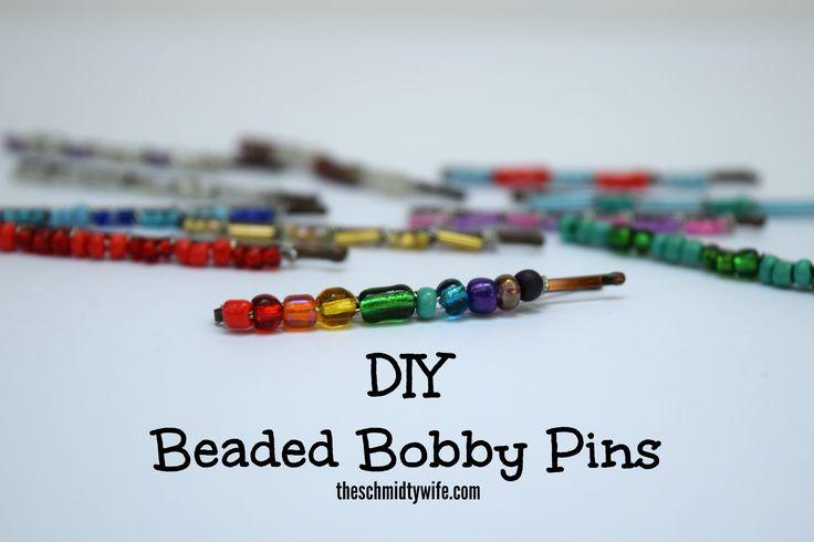 DIY Beaded Bobby Pins