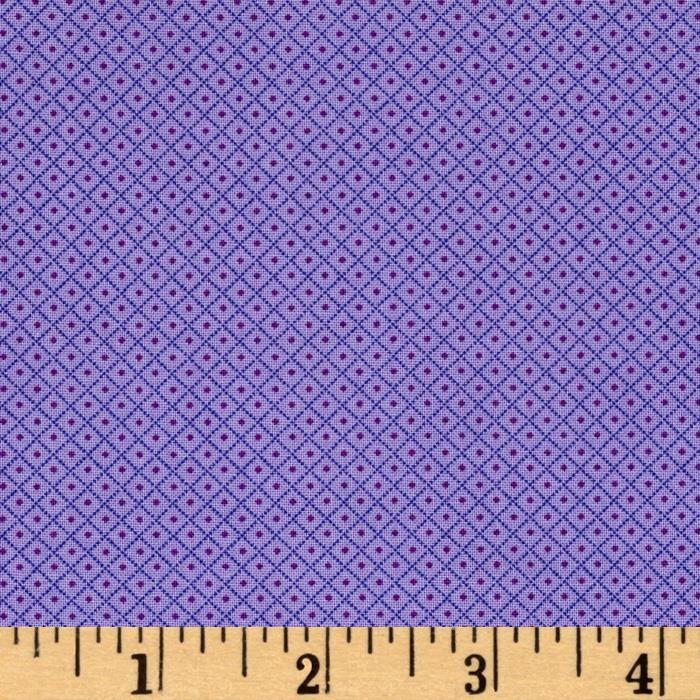 Andover Fabrics Over the Rainbow Diamonds Purple by Kathy Hall A-8416-P