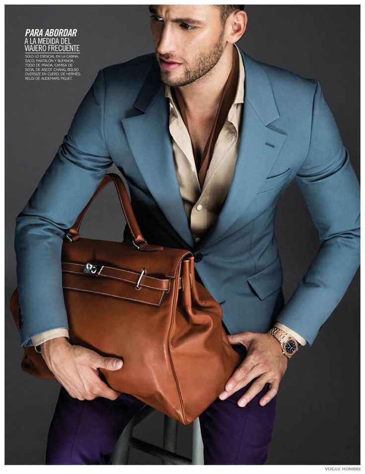 Love love love the color combo! Kevin Sampaio Showcases Luxe Fall Bags for Vogue Hombre