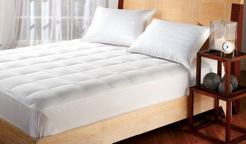 White goose down mattress pad closeout sale bed size full for Beds 80 off