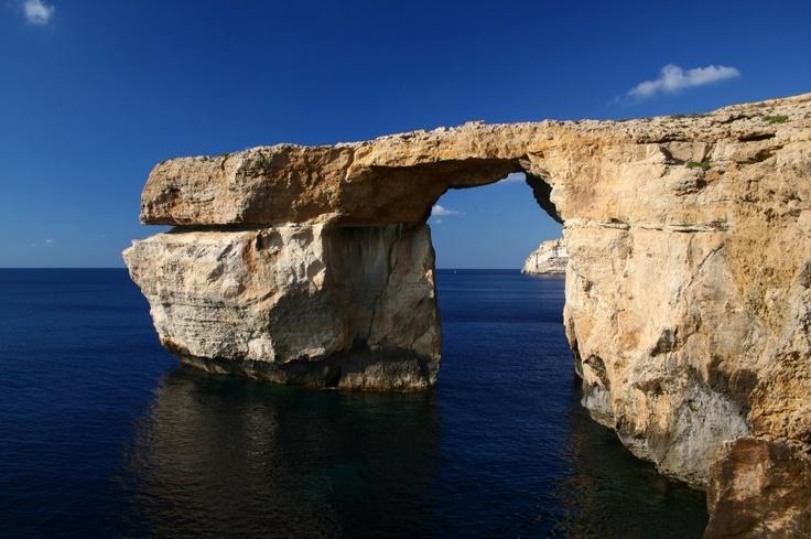 The famous Azure Window-Paxoi island ,Greece