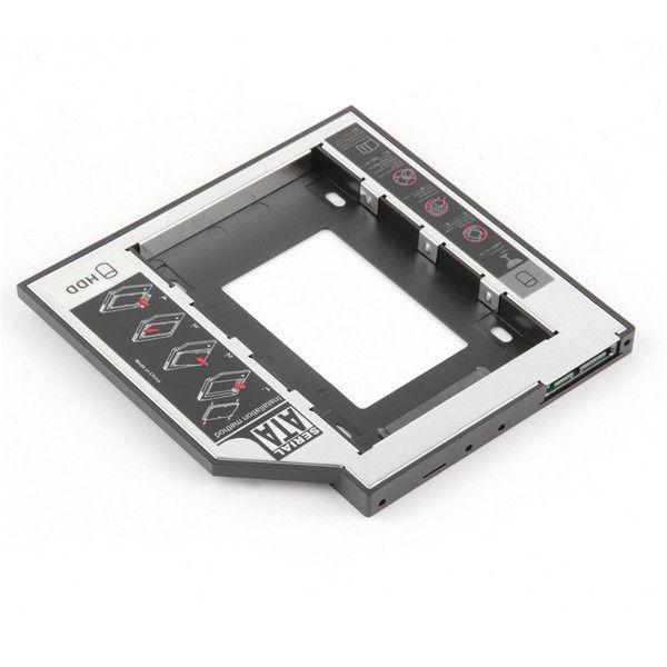 1pc 2nd 2.5HDD Caddy 9.5mm SATA to SATA Hard Drive Adapter For Laptop CD DVD Optical Drive Bay Hot Worldwide